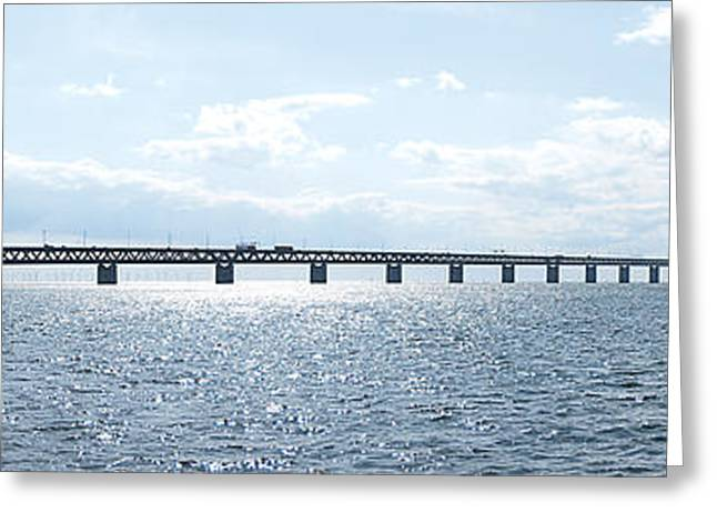 Oresundsbron Panorama 01 Greeting Card by Antony McAulay