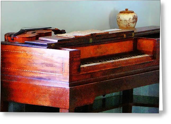 Organ And Violin Greeting Card