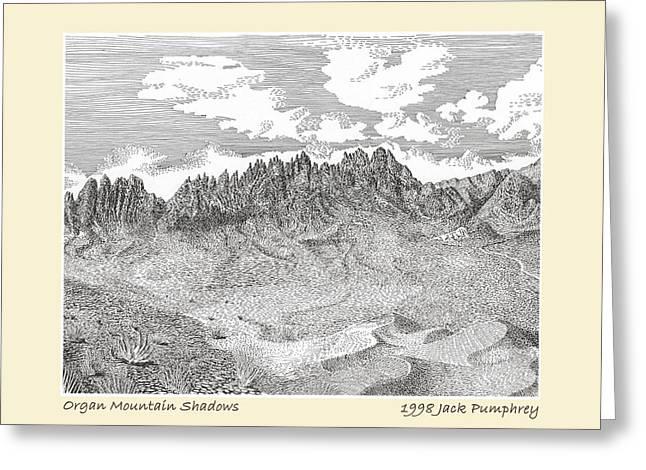 Organ Mountain Shadows Greeting Card