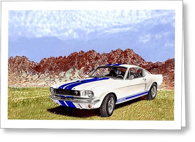 Organ Mountains And 1965 Mustang Greeting Card