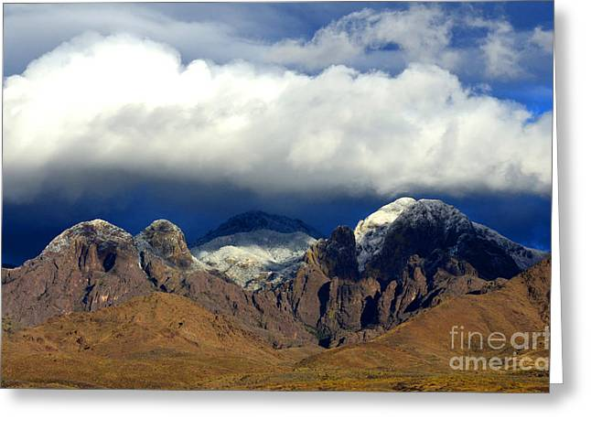 Organ Mountains Beauty Of Clouds Greeting Card by Bob Christopher