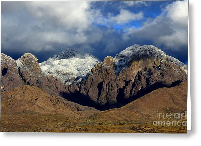Organ Mountains Rugged Beauty Greeting Card by Bob Christopher
