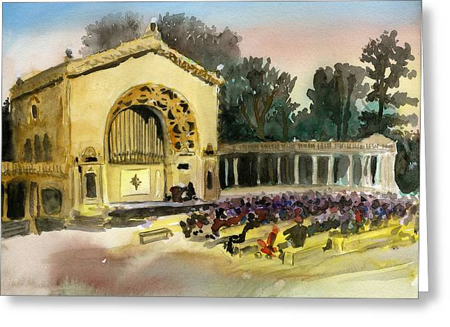 Organ Pavilion Sunset Greeting Card