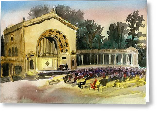 Organ Pavilion Sunset Greeting Card