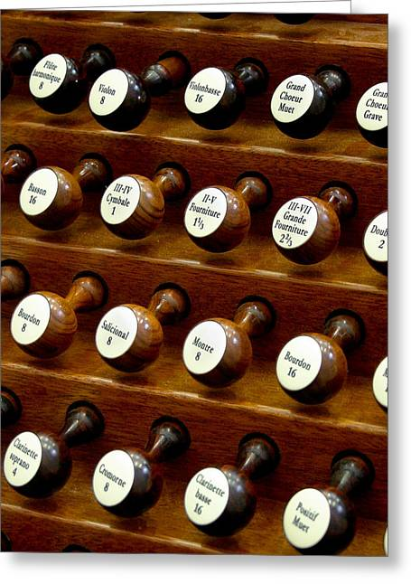 Organ Stop Knobs Greeting Card