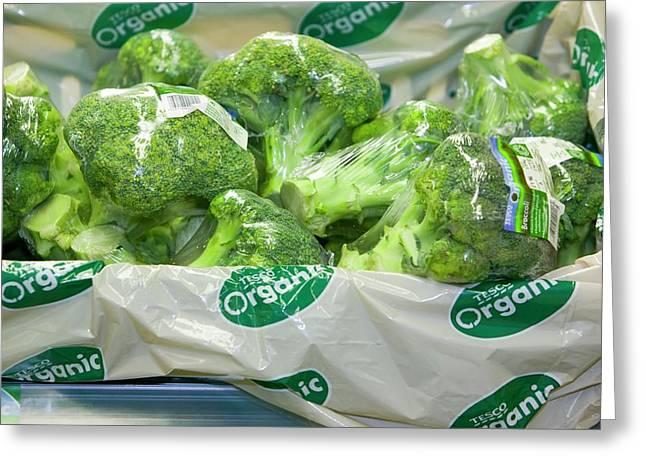 Organic Broccoli For Sale Greeting Card