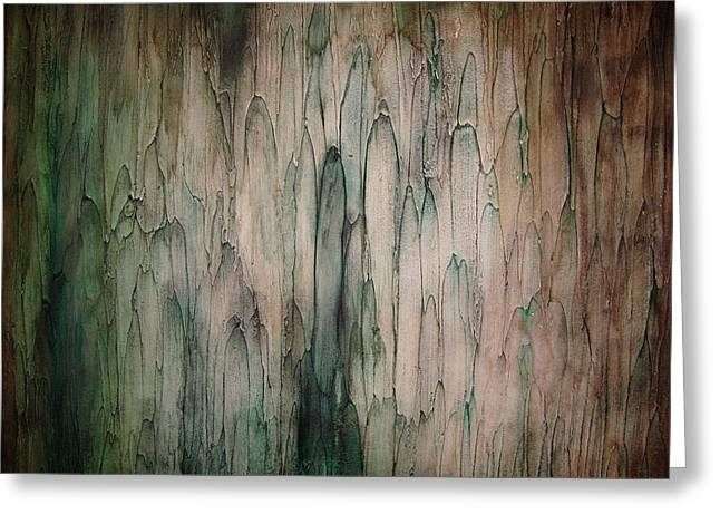 Greeting Card featuring the painting Organic Greens by Tamara Bettencourt