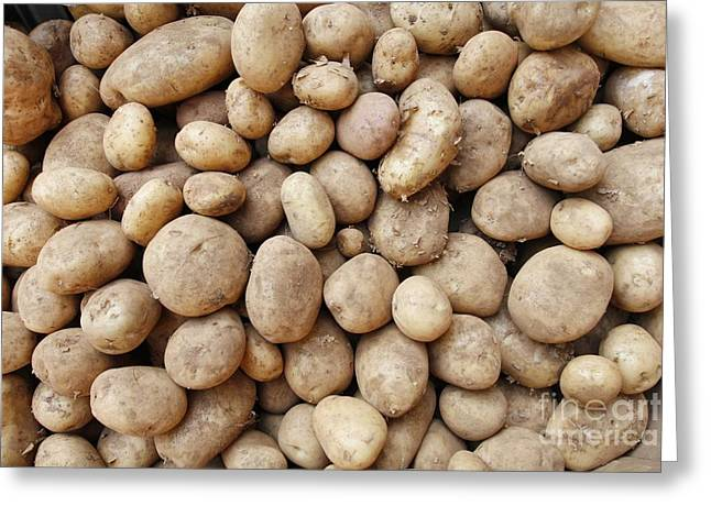Organic Potatoes Greeting Card