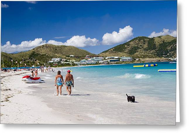 Orient Beach In St Martin Fwi Greeting Card