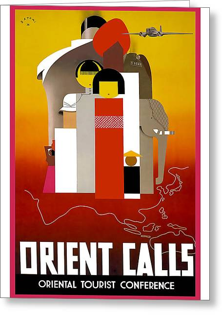 Orient Calls Greeting Card by David Wagner