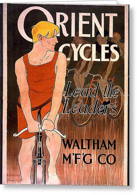 Orient Cycles 1890 Greeting Card by Unknown