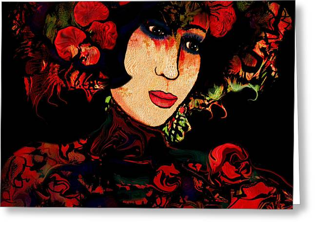 Oriental Beauty Greeting Card by Natalie Holland