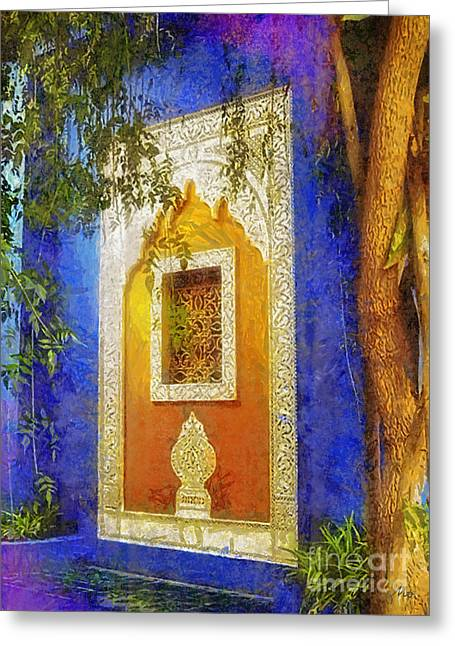 Oriental Mood Greeting Card by Mo T