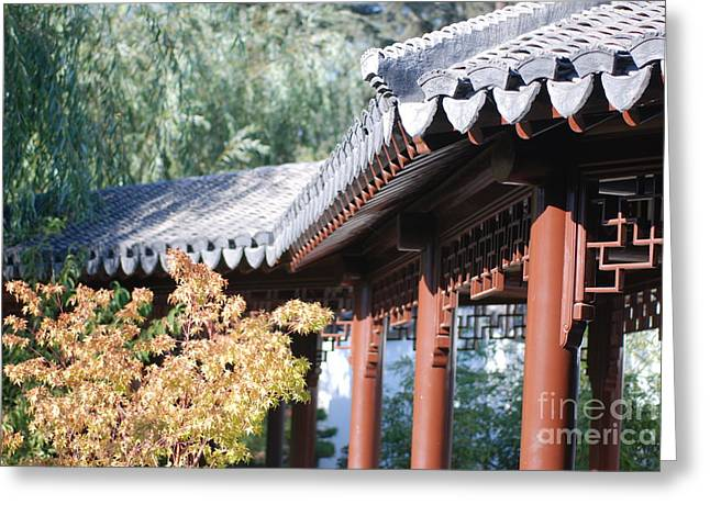 Oriental Roof Greeting Card
