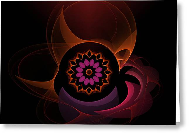 Greeting Card featuring the digital art Oriental Surprise by Hanza Turgul