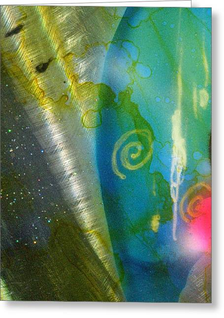 Oriental Whisper Abstract 1 Greeting Card