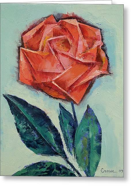 Origami Rose Greeting Card