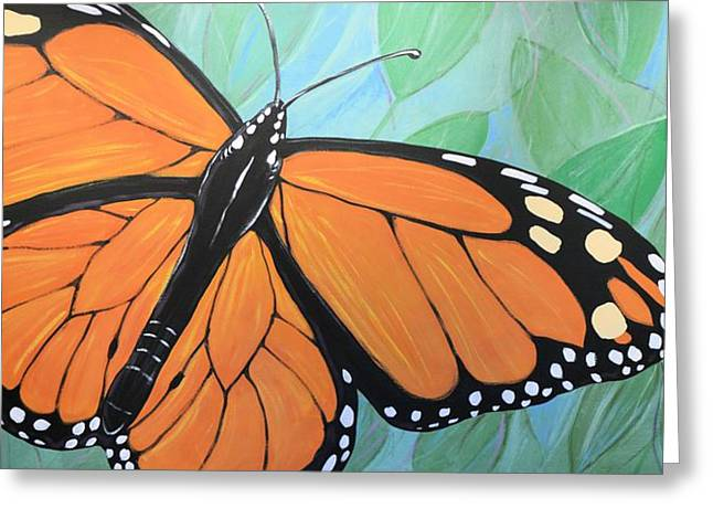 Greeting Card featuring the painting Original Abstract Painting Butterfly Print ... Monarch by Amy Giacomelli