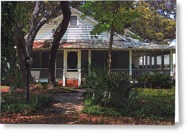Greeting Card featuring the photograph Original Beach Cottage # 625 by Laura Ragland