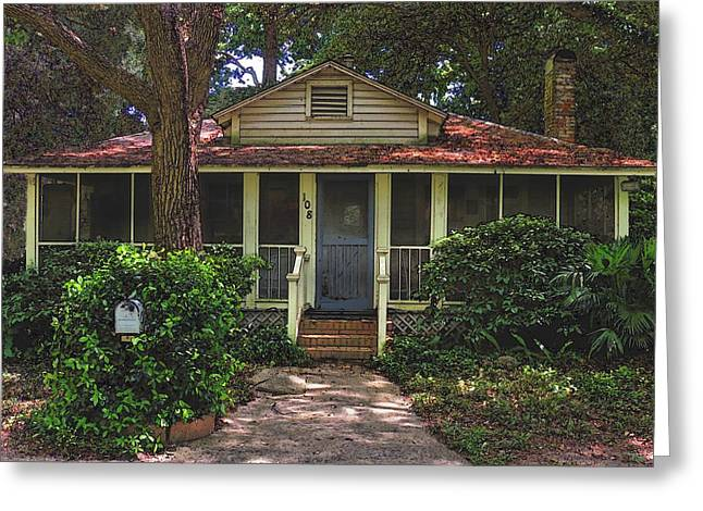 Greeting Card featuring the photograph Original Beach Cottage #108 by Laura Ragland
