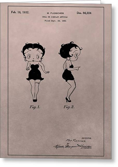 Original Betty Boop Patent Greeting Card