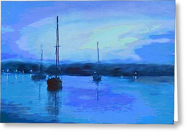 Original Digital Painting Quiet Evening Greeting Card