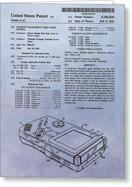Original Gameboy Patent Greeting Card by Dan Sproul