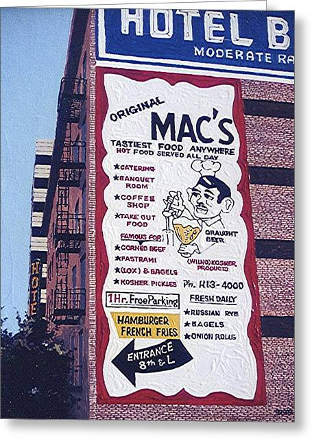 Original Mac's Greeting Card by Paul Guyer