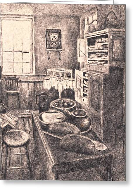 Original Old Fashioned Kitchen Greeting Card by Kendall Kessler