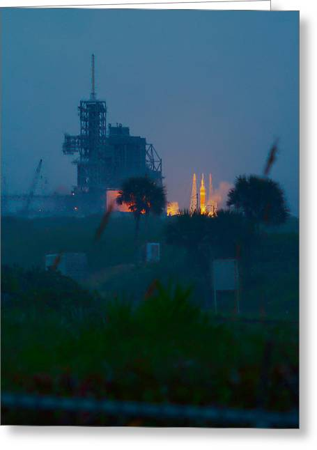Orion Eft-1 Liftoff Greeting Card