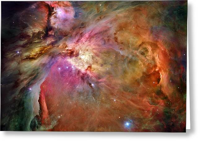 Orion Nebula Greeting Card by Benjamin Yeager