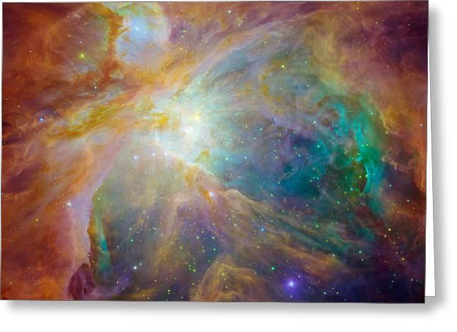Orion Nebula Detail Greeting Card by Rod Jones