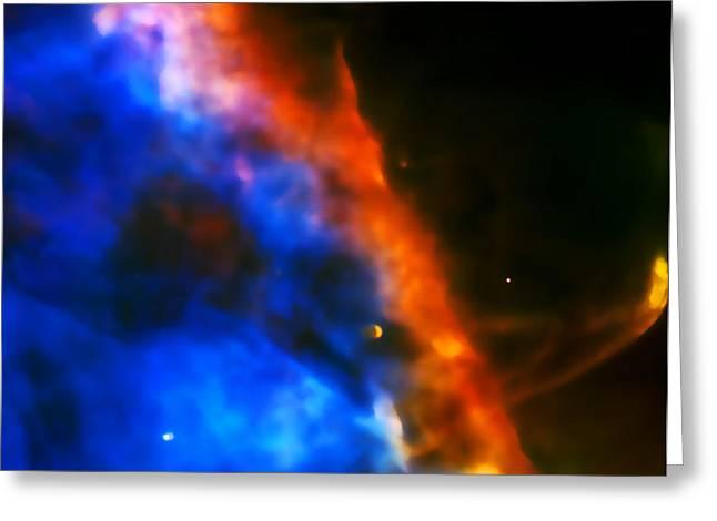 Orion Nebula Rim Greeting Card by Jennifer Rondinelli Reilly - Fine Art Photography