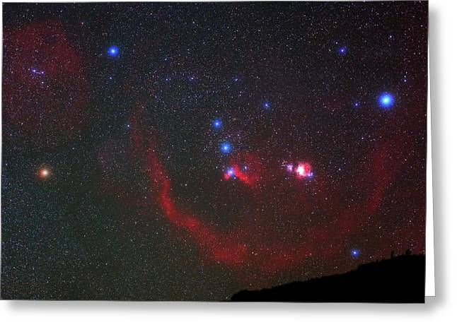 Orion Nebulae Above The Canary Islands Greeting Card