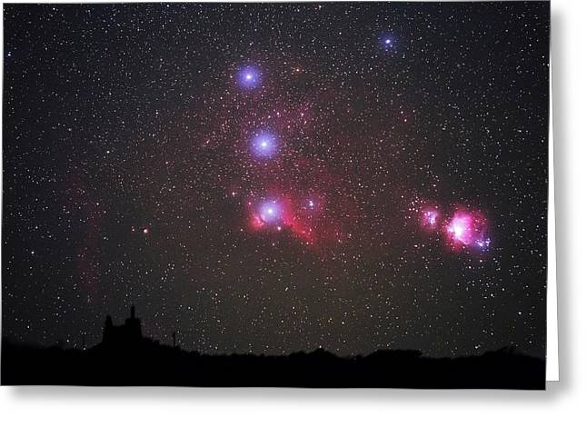 Orion Nebulae From The Canary Islands Greeting Card