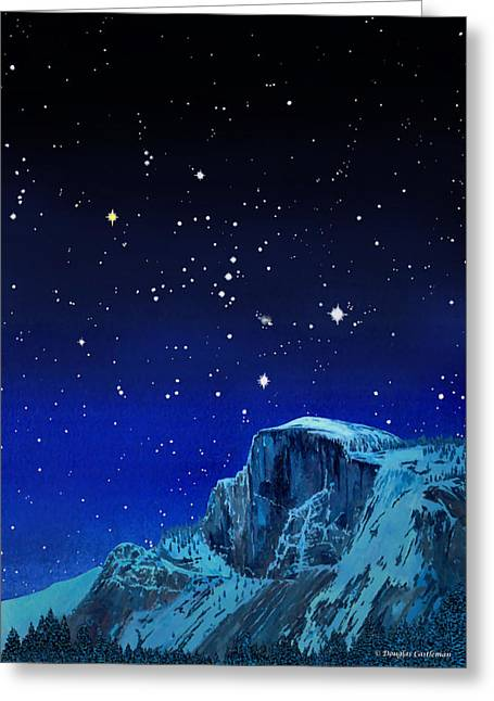 Orion Over Halfdome Greeting Card