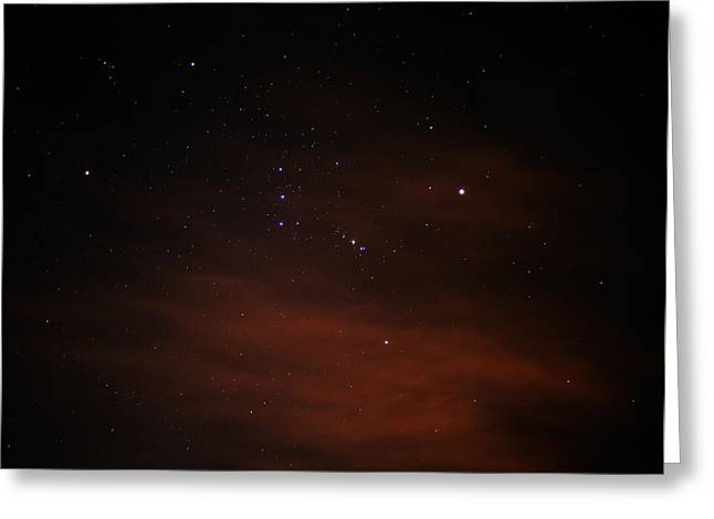 Orion With His Feet In The Clouds Greeting Card by Richard Stephen