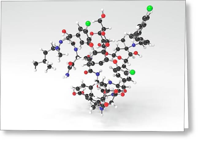 Oritavancin Antibiotic Molecule Greeting Card