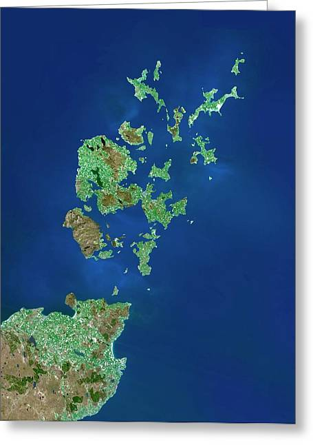 Orkney Islands Greeting Card by Planetobserver/science Photo Library