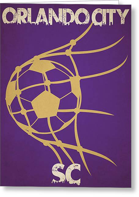 Orlando City Sc Goal Greeting Card by Joe Hamilton