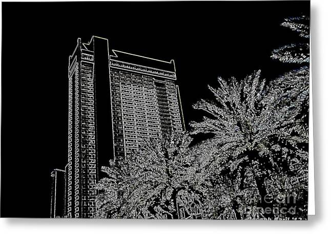 Orleans High Rise Greeting Card by Joseph Baril