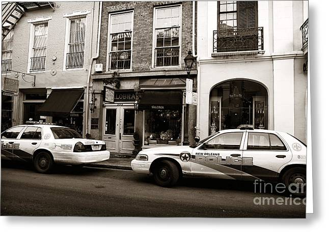 Orleans Pd Greeting Card by John Rizzuto