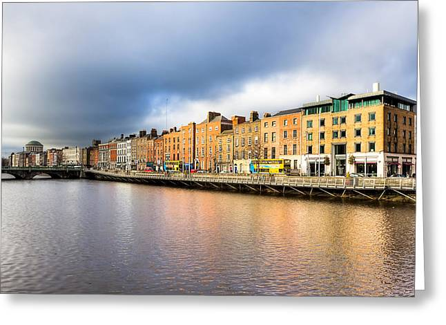 Ormond Quay In Dublin Ireland Greeting Card by Mark E Tisdale