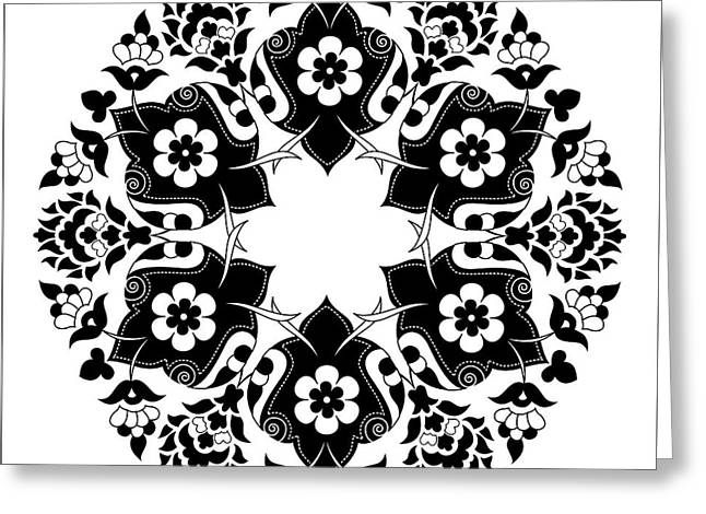 Ornament And Design Ottoman Decorative Greeting Card