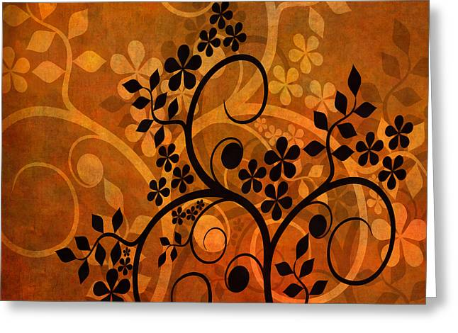 Ornamental 1 Version 1 Greeting Card by Angelina Vick