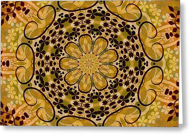 Ornamental 1 Version 3 Medallion Greeting Card by Angelina Vick