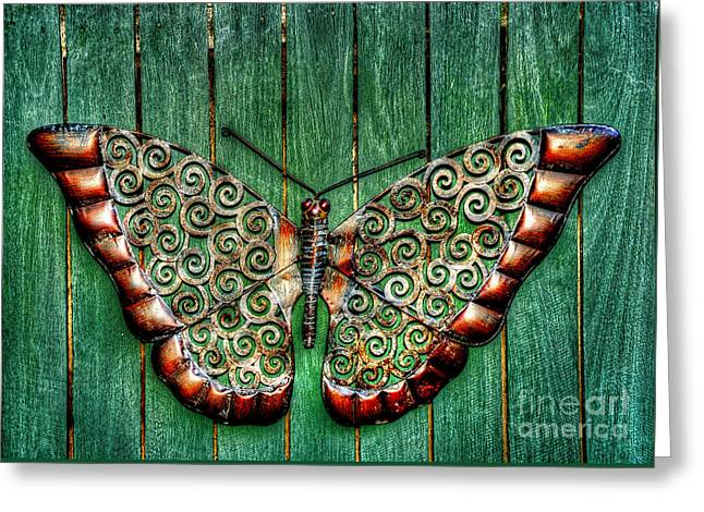 Ornamental Butterfly By Kaye Menner Greeting Card