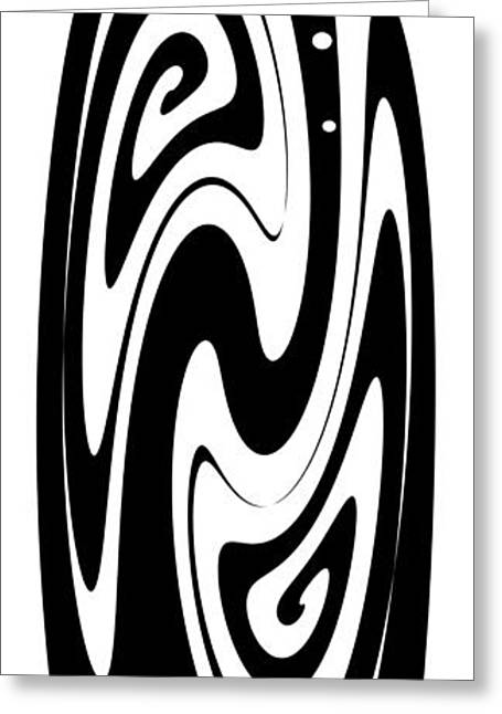 Ornamental Vase - Black And White Greeting Card