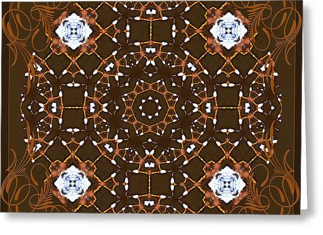 Ornamental Zen Tranquility Greeting Card by Georgiana Romanovna