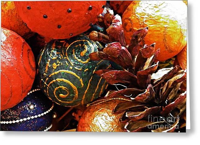 Ornaments 5 Greeting Card by Sarah Loft